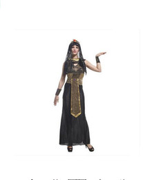Wholesale Womens Corduroy Dresses - Sexy Deluxe Ladies Fancy Dress Cleopatra Egypt Womens Costume Egyptian Goddess Costume Egypt Queen Cosplay Costume