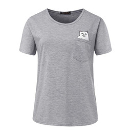 Wholesale Women Apparel Shirt - 2017 Apparel for Women Fashion T-Shirts Women Summer Short Sleeve O Neck Cotton Pockets Party Club Casual Plus Size Tops Tees