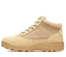 Wholesale White Rubber Combat Boots - hot Summer Desert Tactical Boots Military Combat Hiking Black Ankle Boots Men Shoes Work Army Boots Zapatillas Botas Plus