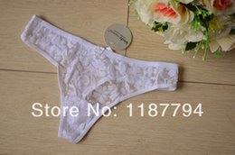 Wholesale T String Underwear Cheapest - G-string G String Thong Women Panty Lace Sexy Lingerie T Back Underwear Mid Waistline Super Elastic Cheapest BW01