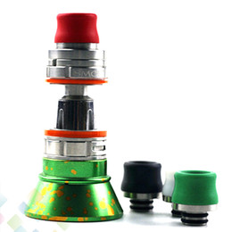 Wholesale Mouth Piece Covers - TFV8 Baby Drip Tip Teflon 510 Mouthpiece Drip Tips Cover Mouth-piece for Smok TFV8 Baby 510 Atomizers E Cig DHL Free