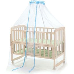 Wholesale Landing Nets - Wholesale-Baby Mosquito Net Dome Palace type Landing Baby Crib Mosquito Nets Curtain Net for Toddler Crib Cot Canopy for protect newborn