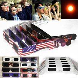 Wholesale Usa Packaging - Paper Solar Eclipse Glasses 2017 USA Safe Solar Viewing Protect Your Eyes Safely view the solar on August 21th - OPP package WX-G14