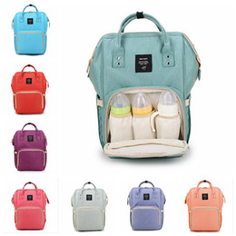 Wholesale Nappy Travel - Mummy Maternity Nappy Bag Large Capacity Baby Bag Travel Backpack Desiger Nursing Bag for Baby Care Diaper Bags 50pcs OOA2184