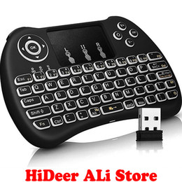 Wholesale Keyboard Qwerty Backlight - Wholesale- [Upgraded] Backlight Keyboard i8+ 2.4Ghz Wireless Qwerty with Touchpad Mouse Combo for Mini PC Smart TV TV Box Laptop Backlit