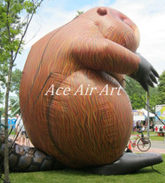 Wholesale 4 metters Tall Giant Inflatable Beaver Inflatable Caster fiber Inflatable American Beaver for Sale and Advertising Made in China