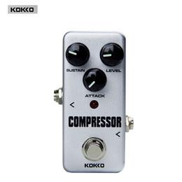 Wholesale Guitar Effect Compressor - new arrival Guitar Parts & Accessories KOKKO FCP2 Mini Compressor Portable True bypass Guitar pedal board