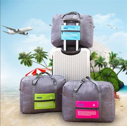 Wholesale Shopping Carrying Bag - Foldable Luggage Bag Travel Storage Folding Carry-On Duffel Bags 32L Polyester Waterproof Shopping Shoulder Flight Bag 4 Colors OOA2541