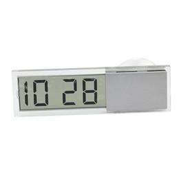 Wholesale Digital Lcd Calendar - Digital LCD Car Dashboard Desk Date Time Calendar Clock Sucked type Car Electronic Digital Clock
