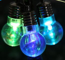 Regenbogen-taschenlampe online-7 LED Glühbirne geformt Ringbirne Schlüsselbund Taschenlampe leuchtende Regenbogen Farbe leuchtet Schlüsselanhänger Hintergrund Lampe LED LLFA