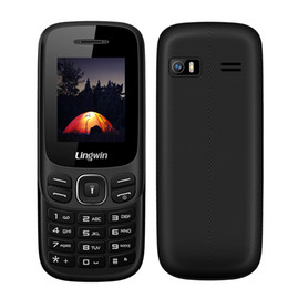 Wholesale Dual Screen Gsm Mobile Phone - Lingwin N1 Feature Phone 1.77 Inch 32MB+32MB GSM Quad Band Dual SIM+TF Slot CellPhone Senior Elderly MP4 Flashlight Mobile Phone