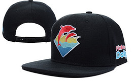Wholesale Dolphins Hat - 2017 Pink Dolphin Snapback Hats Bruins Cap Penguins Hat Blackhawks snapbacks Sharks Caps Good Quality hockey Snap Back