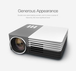 Wholesale Mini Dlp - Wholesale- Mini Portable HD 1080P 3D LED Projector Perfect Home Theater Projector For Projector Movie Support HDMI VGA Portable beamer GM50