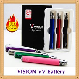 Wholesale Ego Retail - 5 Pcs Retail Pack Vision Spinner Ego c twist electronic cigarette ego-c twist battery 650 900 1100 1300 mah Variable Voltage 3.3-4.8V Vapes