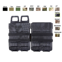 Wholesale Airsoft Molle Holster - Tactical Airsoft hunting FAST MAG Vest Accessory Box FAST Magazine Holster Set Molle Mag Clip 5.56 Fast Mag Magazine Pouch SO06-102