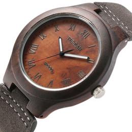 Wholesale Maple Watch - New Arrival Nature Maple Wooden Case Genuine Leather Quartz Wrist Watch Relojes Men Women Luxury Roman Numeral Wrist Watch