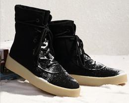 Wholesale Men Fashion Dress Boots - SEASON Handmade Europe Luxury Men Chelsea Boots genuine Leather 1:1 Shoes Men's hip hop party Dress Shoes Kanye GD West shoes