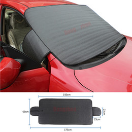 Wholesale Clean Shield - Car SUV Windshield Cover Snow Ice Protector Sun Shield Storage Pouch Windproof