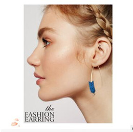 Wholesale United Arrows - Creative style texture green arrow pressure piece of Europe and the United States to restore ancient ways earrings