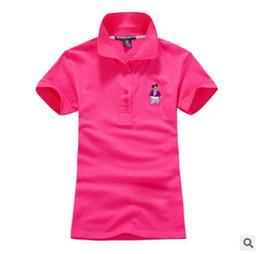 Wholesale Korean Polo Shirts - 2016 summer new Korean t-shirt ladies polo shirt cotton Slim short-sleeved lapel casual T-shirt tide
