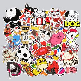 Wholesale Wholesale Sticker Sales - 50 pcs Stickers Cute Animal Hot sale Home decor Toy styling Television Decal Laptop Motorcycle Skateboard Doodle Diy Sticker