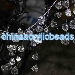Wholesale Crystal Wedding Decoration Blue Lights - 120CM(4FT) Acrylic Plastic Crystal Diamond Beaded Branch Wire Acrylic Bead Garland Wedding Party Decor