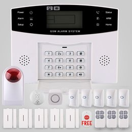 Wholesale Wireless Alarm Dialer - 25kgs pet immune High Quality GSM+SMS+Wireless+APP+Voice + LCD Auto Dialer smart home burglar security alarm system kit