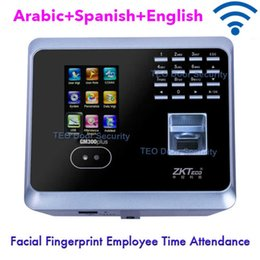 Wholesale Time Clocks Wifi - Wifi Biometric Facial Fingerprint Employee Time Attendance ZKTeco GM300Plus Low Cost Face Recognition System Face Employee Time Clock