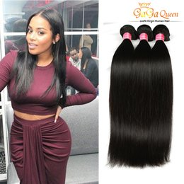 Wholesale Indian Remy Hair Free Shipping - 8A Grade Human Straight Virgin Hair Indian Remy Human wave Unprocessed Virgin Indian Hair Extensions Silky Straight Hair Weave Free Shipping