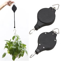 Wholesale Pot Hangers - Plant Pulley Retractable Pulley Plant Hanger Hanging Flower Basket Hook Hanger for Garden Baskets Pots and Birds Feeder free DHL