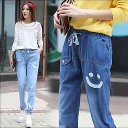 d509232047b Spring and Autumn 14-16 years old girls trousers 13 junior high school  students girls loose waist trousers 17 loose feet jeans