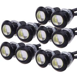 luz de advertencia bmw Rebajas 10 X 9 W 18 mm 12 V LED blanco Eagle Eye luz coche niebla DRL diurna luz de señal de aparcamiento de copia de seguridad inversa CLT_00Q