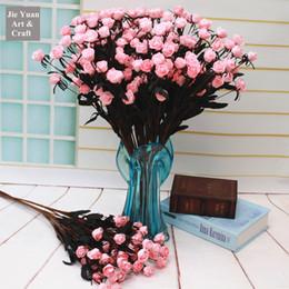 Wholesale Silk Mini Flower Heads - Wholesale 12 Heads mini Rose Fake Flower Silk Flower Wedding Flower Arrangement Home Decoration free shipping