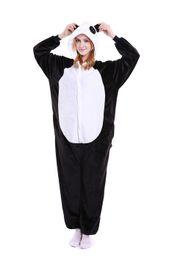 Wholesale Black Giraffe - Giraffe Onesie Pajamas Adult Teen Cute Cosplay Costumes White Black Panda Footed Pyjamas Onepiece For Women Cheap Fleece Pajamas For Juniors