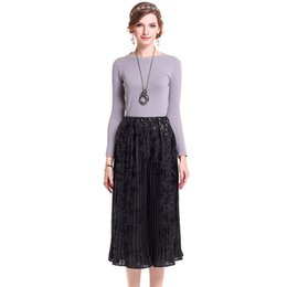 Wholesale Long Floral Skirts For Women - Spring Automn Fashion High-waisted Mat Printing Pleated casual pants pantskirt Long culottes divided skirt for Women Fedmale