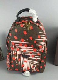 Wholesale Womens Leather Backpacks - Famous Brand Womens Backpacks PALM SPRINGS Women Backpack Big Size Real Leather Women Backpack Mongram Jungle Dots Backpacks M41980 M41981