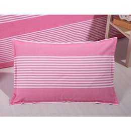 Wholesale Coarse Yarn - Bedding article coarse cloth Pillow case , Double bed simple style cotton Pillow case four seasons general, A variety of colors