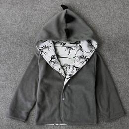 Wholesale outwear child coat winter boy - Kids Clothes Boys Jacket Hoodies Autumn Children Fashion Gray Hoodies Coat Baby Boy Dinosaur Cardigan Outwear