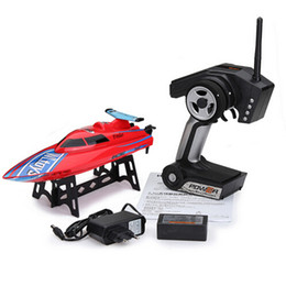 Wholesale Toy Boat Races - New Arrival Wltoys WL911 RC Boat 4CH 2.4G High Speed 24km h Racing RC RTF Charging Boat Waterproof Remote Control Outdoor Toys for children