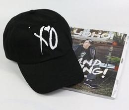 Wholesale Striped Sun Hats Women - Fashion adjustable XO hat the Weeknd Snapback hats for men women brand hip hop golf dad caps sun street skateboard casquette cap bone