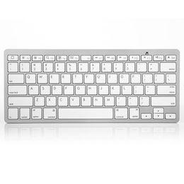 Wholesale Pc Macbook Air - New Bluetooth 3.0 Wireless Keyboard Slim For Apple iPad Air Mini 2 3 4 Mac Computer PC Macbook with Retail Box