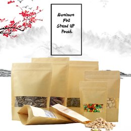 Wholesale Wholesale Foil Bags For Candies - Food Moisture-proof Bags, Aluminum Foil Lining Stand UP Pouch with window,Ziplock Packaging Bag for Snack Candy Cookie Baking