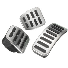 Wholesale Pedal Steel - Wholesale-Stainless Steel MT Pedal Pads For VW Polo Jetta MK4 Bora Golf MK4 3pcs set