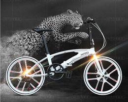 Wholesale Mtb Bike Full Suspension - 22 inch folding bike 7 speed bicycle disc brake aluminum alloy frame mountain bike 160-185CM MTB HITO folding bicycle