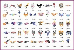 Wholesale Template Tattoo Free - Wholesale-New arrival Temporary Airbrush Tattoo Stencil Template Booklet 17 of the Abstract designs Free shipping