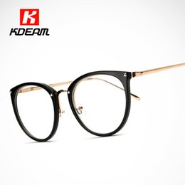 Wholesale Carries Lenses - Wholesale- Easy to Carry Computer Spectacle Cats Clear Glasses Frame Women Eyeglasses Transparent Lens With Package Kdeam CE