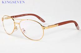 Wholesale Wood Black Eyeglasses Frames - luxury sunglasses for women brand sunglasses Women Designer buffalo horn glasses screw wood leg eyeglass oval eyewear oculos