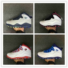Wholesale Chi Flat - Retro 10 Paris NYC CHI Rio LA Hornets City Pack Vivid Pink 10s Men Basketball Shoes Sneakers Retro X Sports Shoes With Box