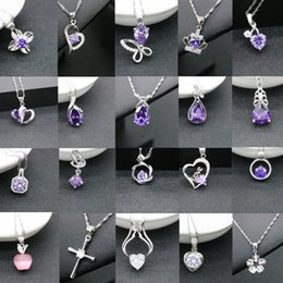 crystal crown pearl necklace Coupons - Fashion 925 Silver Pendant Necklaces Heart Cross Flower Apple Crown Crystal Pendant For Women Dating Party Accessories