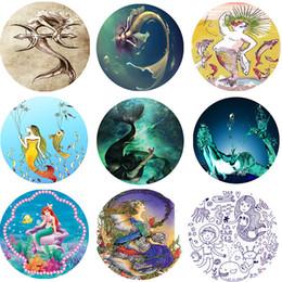 Chal de sirena online-Toalla de playa Varios estilos Sombra solar Chal Mermaid Series Mat Colchón de múltiples funciones Mantas de colores portátiles 25zw2 J R